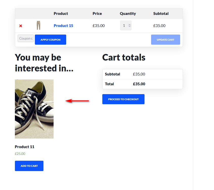 optimize woocommerce conversion rate - cross sell
